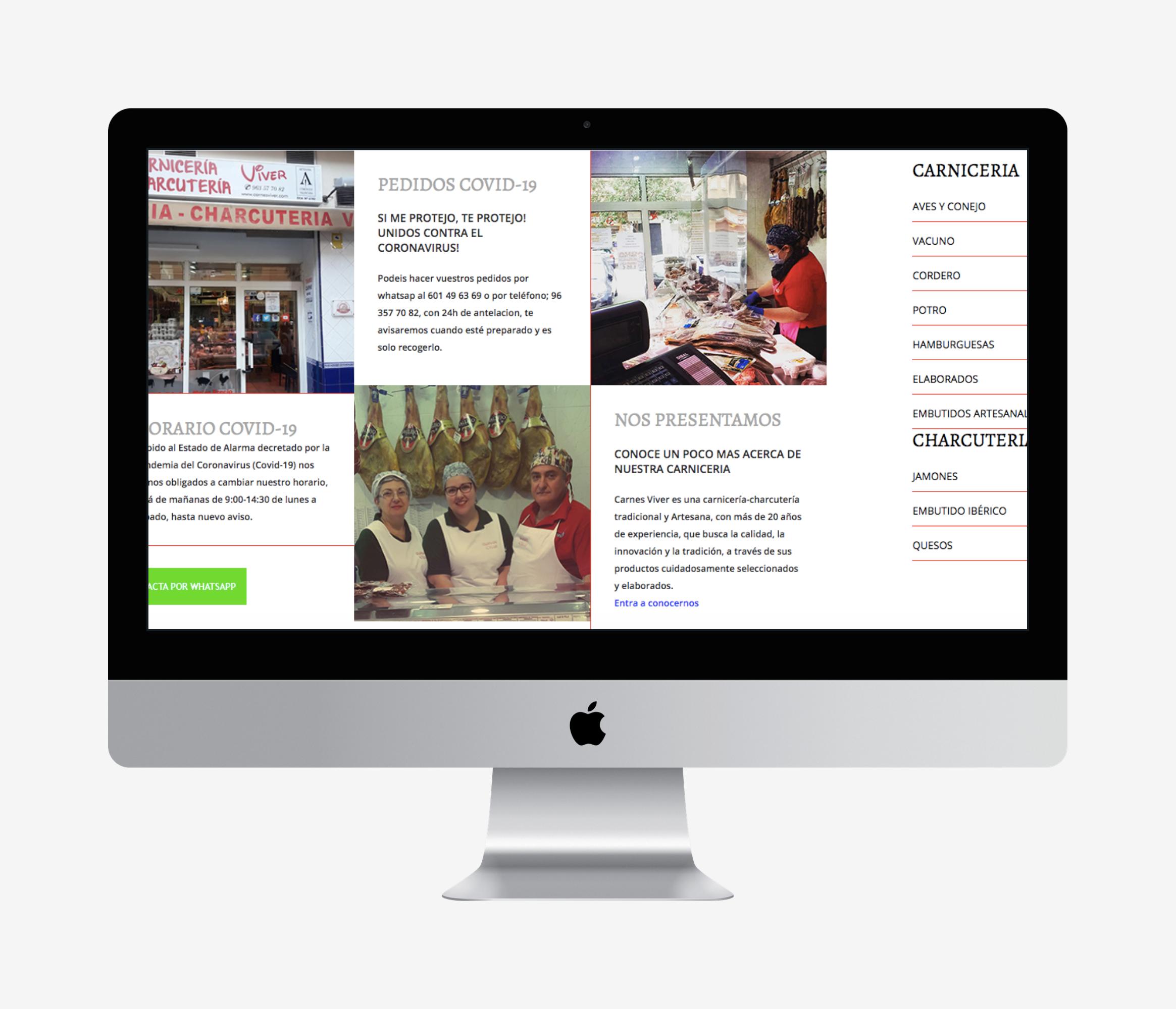 diseño pagina web carniceria viver