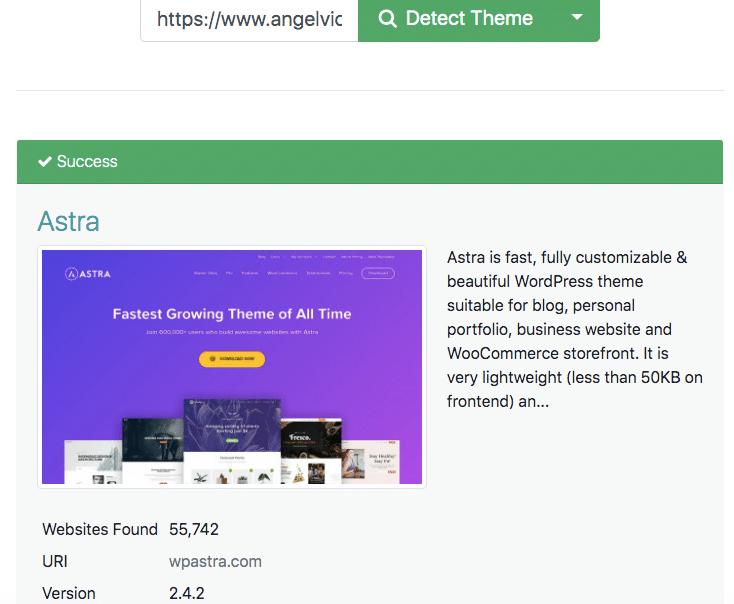 que plantilla utiliza una web o tienda online de shopify